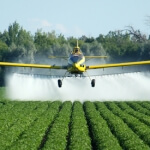 aerial application spraying fungicide
