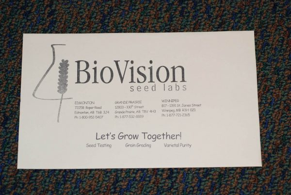 A typical seed sample envelope