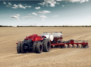 A supplied photo of the autonomous tractor planting in the southeastern US earlier this year.
