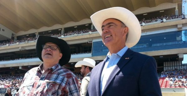 Canadian Ag Minister Lawrence MacAulay and Mexican Ag Secretary Jose Calzada at the Calgary Stampede (photo courtesy AAFC)