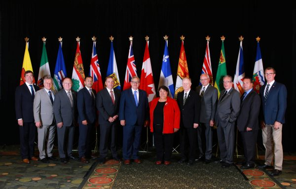 Federal, provincial, territorial agricultural ministers in St. John's in July 2017.