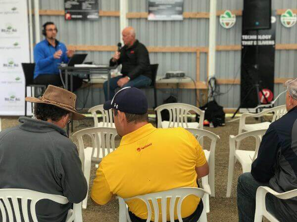 Shaun Haney and Keith Currie, OFA, sit down to talk rural broadband at the 2018 Outdoor Farm Show